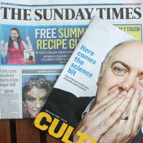 The Sunday Times: Most recent (22 June 2014): SICK OF HOSPITALS - One page news focus.