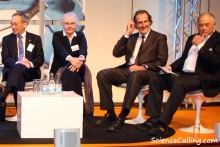Craig Mello sitting on the human biology panel along with other Laureates and experts yesterday